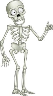 Cartoon skelet geven duim omhoog