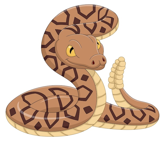 Cartoon slang op witte achtergrond