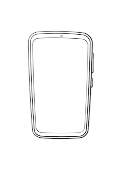 Cartoon smartphone met volledig touchscreen overzicht vectorillustratie moderne slimme mobiele telefoon