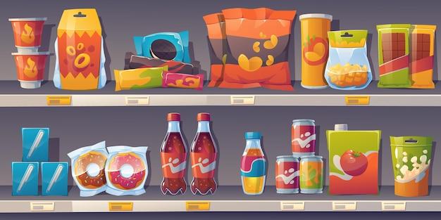 Cartoon snackplanken