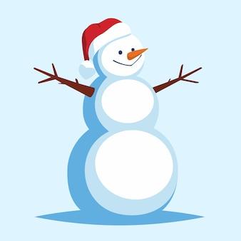 Cartoon sneeuwpop met open armen