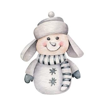 Cartoon sneeuwpop