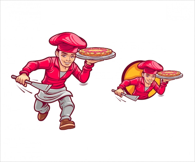 Cartoon snelle pizza