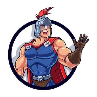 Cartoon spartaanse