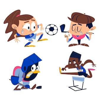 Cartoon sport stickers collectie