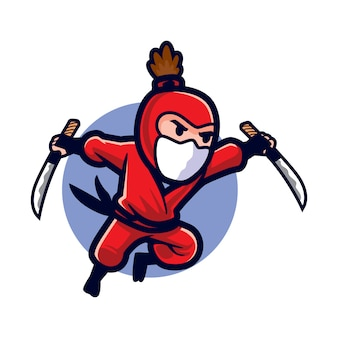 Cartoon stealthy attack ninja