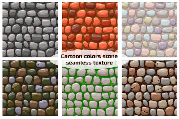 Cartoon steen textuur, naadloze achtergrond