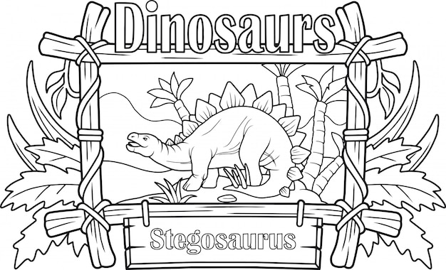 Cartoon stegosaurus