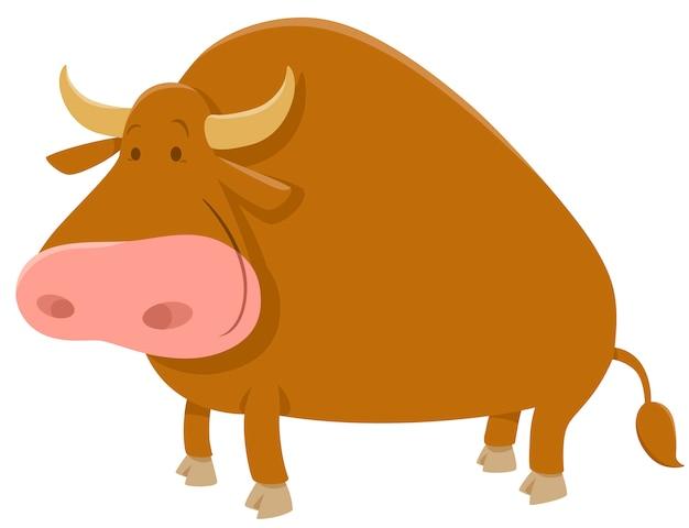 Cartoon stier boerderij dier