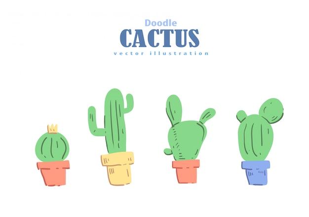 Cartoon stijl castus doodle. castus