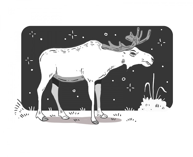 Cartoon-stijl eland