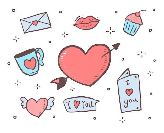 Cartoon stijl liefde