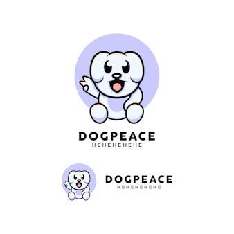 Cartoon-stijl schattige hond illustratie