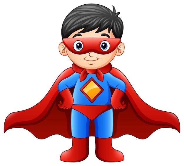 Cartoon superheld jongen