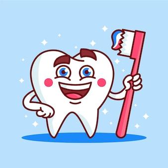 Cartoon tandheelkundige zorg concept