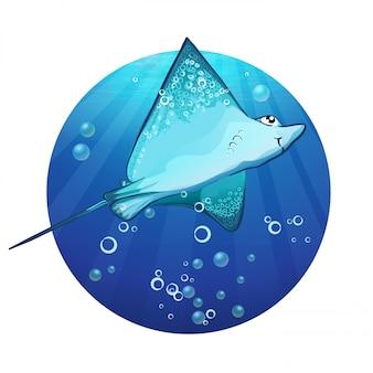 Cartoon tekening van een vis oprit