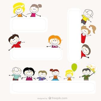 Cartoon tekeningen van kinderen vector