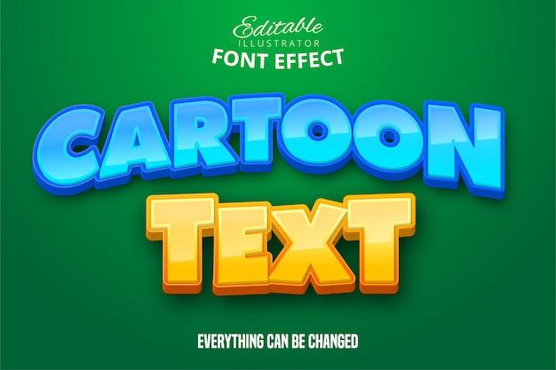 Cartoon tekst, 3d-bewerkbare lettertype-effect