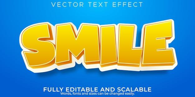 Cartoon-teksteffect, bewerkbare tekststijl voor kinderen en school