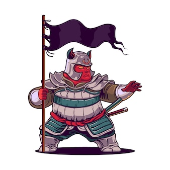 Cartoon the warrior mascot
