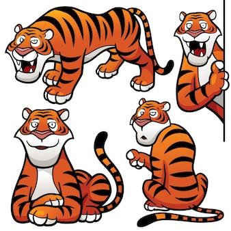 Cartoon tijger karakter