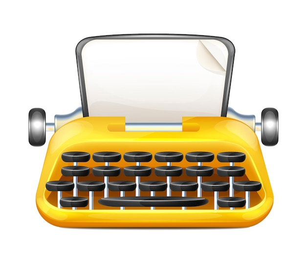 Cartoon typemachine illustratie
