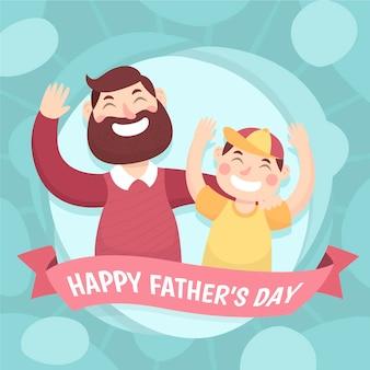 Cartoon vaderdag illustratie