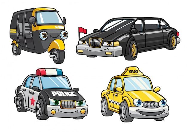 Cartoon van auto set