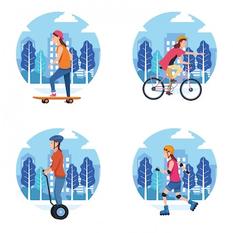 Cartoon van de sport het openlucht sportieve activiteit