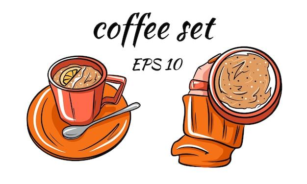 Cartoon van een kopje koffie.