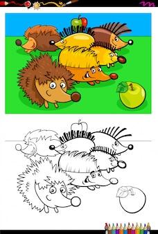 Cartoon van egels dierlijke karakters