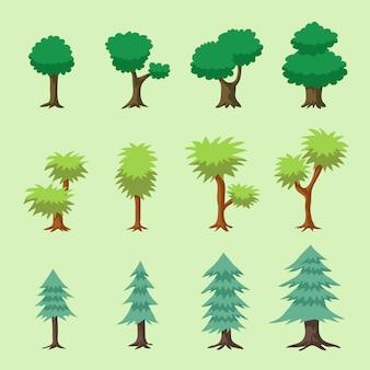Cartoon vector bomen
