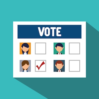 Cartoon verkiezingen stem ontwerp