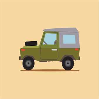 Cartoon vintage jeep