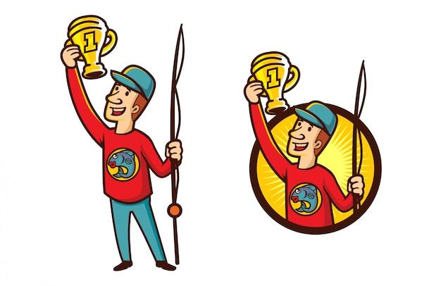 Cartoon visserij wedstrijd