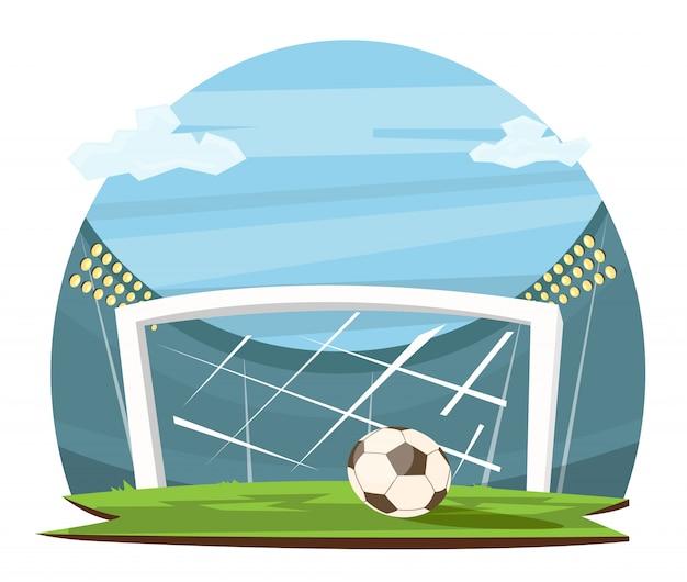 Cartoon voetbal concept