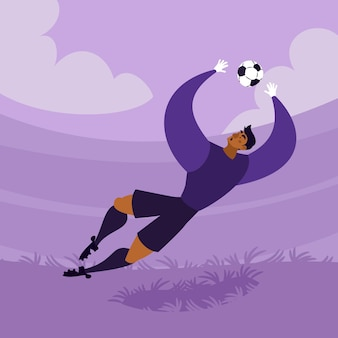 Cartoon voetballers illustratie