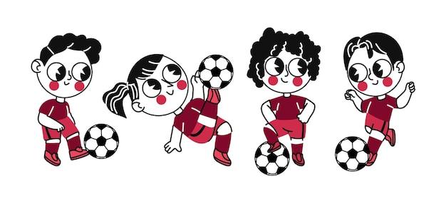 Cartoon voetballers