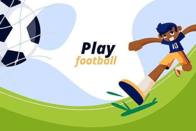 Cartoon voetbaltoernooi illustratie