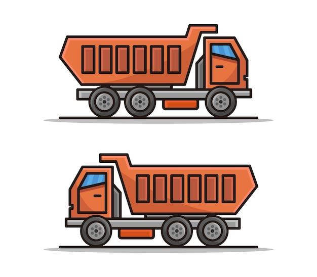 Cartoon vrachtwagen
