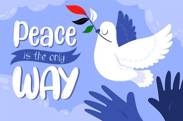 Cartoon vrede achtergrond geïllustreerd