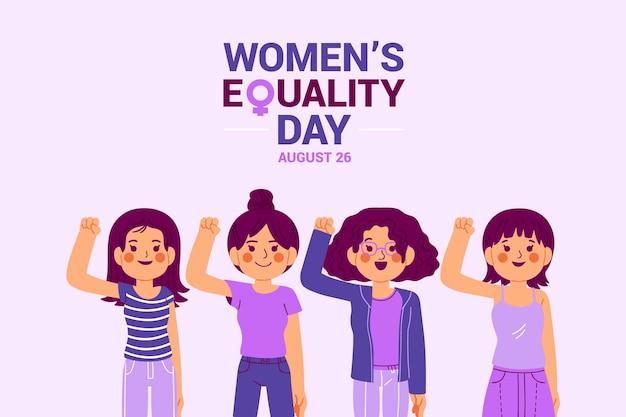 Cartoon vrouwen gelijkheid dag illustratie