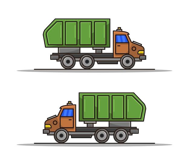 Cartoon vuilniswagen