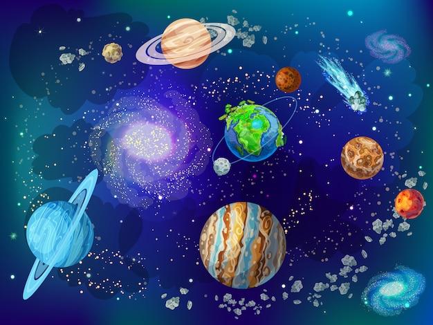 Cartoon wetenschappelijke ruimte