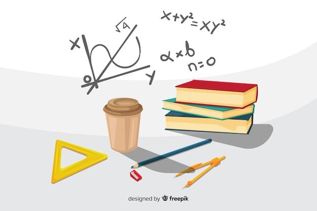 Cartoon wiskunde achtergrond
