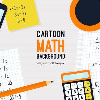 Cartoon wiskunde concept achtergrond