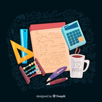 Cartoon wiskunde elementen achtergrond
