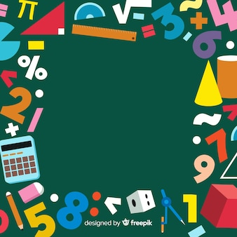 Cartoon wiskunde schoolbord achtergrond