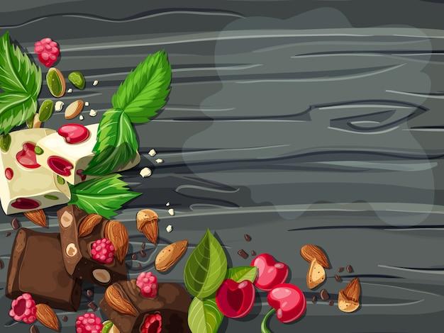 Cartoon witte en melkchocolade sjabloon