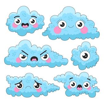Cartoon wolken collectie